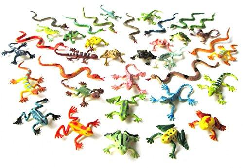 Miniblings 36x Schlangen Frösche Echsen Salamander Tierfiguren...