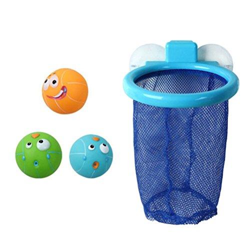 TOYMYTOY Badewannen Basketball mit Saugnapf Net und 3 Bälle Kinder...