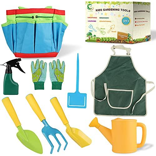 Gartengeräte für Kinder,10-teiliges Set Spielwerkzeuge für den...