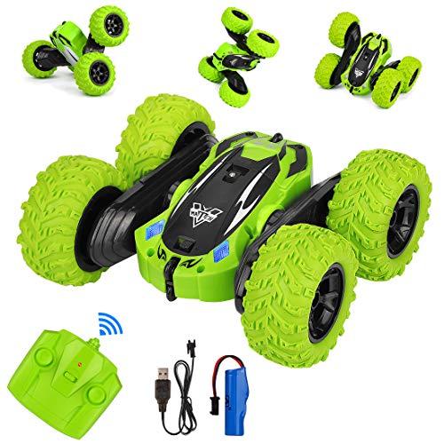 Etmury 4WD Ferngesteuertes Auto Kindergeschenk, Wiederaufladbar RC Stunt Auto mit 360° Rotation und 180°...