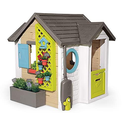 Smoby 810405 - Gartenhaus - Spielhaus für drinnen und draußen, mit...