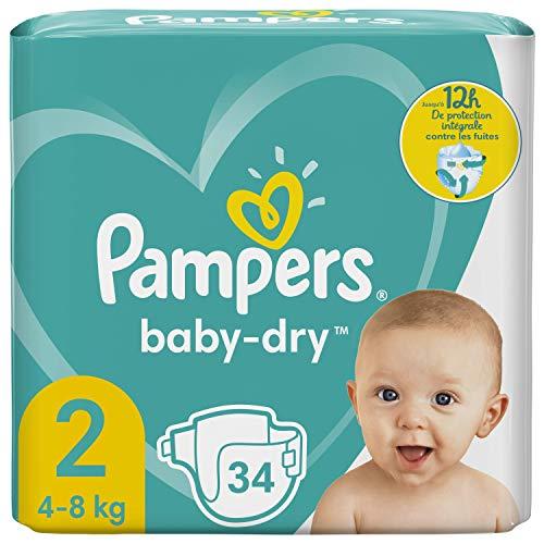 Pampers Baby-Dry Größe 2, 34 Windeln, bis zu 12 Stunden Schutz,...