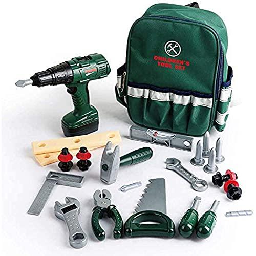 Veluoess 27 Stück Kinder Werkzeug Spielzeug Set, Bauwerkzeugsätze...
