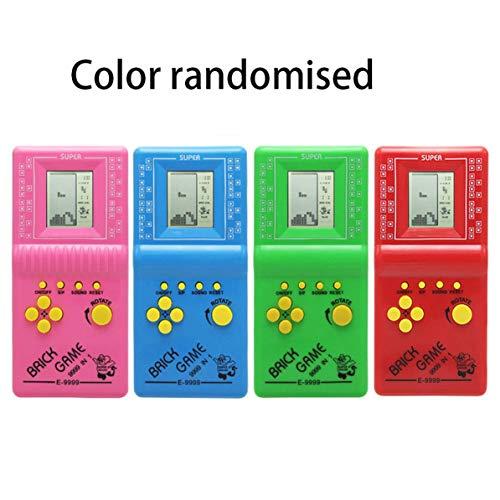 Monlladek Tetris Puzzle-Spiel, tragbares ultrakleines Handheld-Spielekonsole für Kinder...