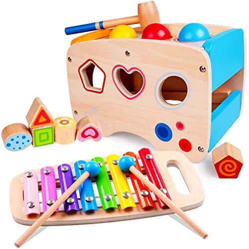 Rolimate Xylophon und Hammerspiel Spielzeug ab 1 Jahr,...