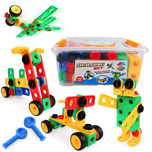 LBLA Kreativ Bauset,Baustein Kinder Spielzeug 4 Jahren Junge Mädchen,Spielzeug ab 3 4 5 6 7 8...