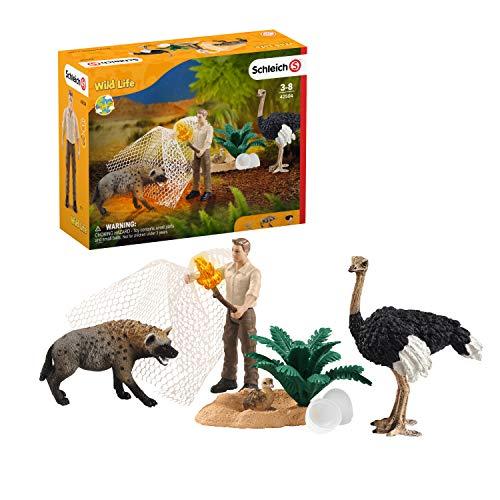 Schleich 42504 Wild Life Spielset - Angriff der Hyäne, Spielzeug ab 3...