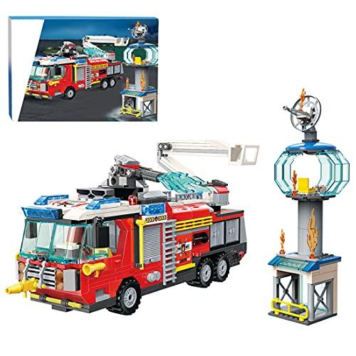 CALEN City Feuerwehr Station Baukasten für Flughafenrettung...