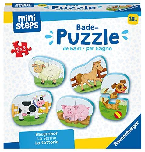 Ravensburger ministeps 4167 Bade-Puzzle Bauernhof - Badespielzeug,...