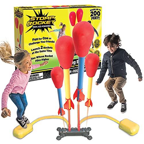 Stomp Rocket Dueling 4 Rockets & Rocket Launcher Outdoor rocket toy...