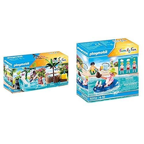 PLAYMOBIL Family Fun 70611 Kinderbecken mit Whirlpool, Zum Bespielen...