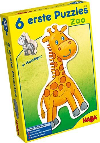 Haba 4276 - 6 Erste Puzzles Zoo, mit 6 niedlichen Zootiermotiven für...
