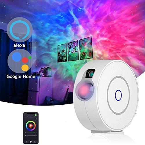Smart Sternenhimmel Projektor mit LED Nebel,kompatibel mit Alexa &...
