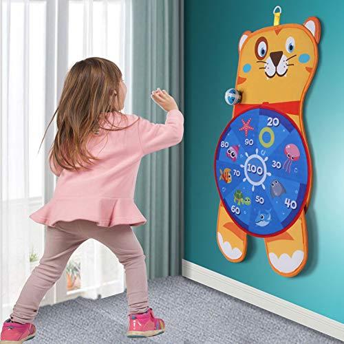 Kinder Dartscheibe Spielzeug, Bunte Flanell Leichte Kinder Dartscheibe, Dartscheibe Spiel Langlebig für...