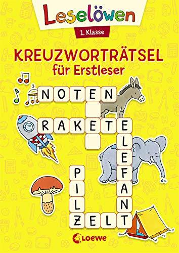 Leselöwen Kreuzworträtsel für Erstleser - 1. Klasse (Gelb):...