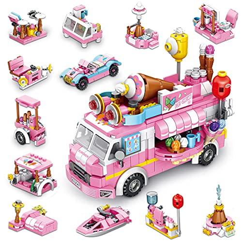 TINIBOLT Bausteine Spielzeug Eiswagen STEM Toy 533 PCS Engineering...