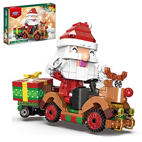 WWEI Weihnachtsmann Rentier Auto Bausteine, Adventskalender...