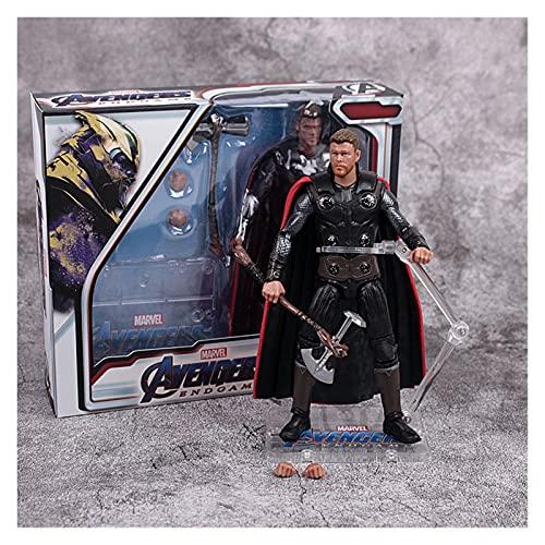 YSJJJBR Actionfiguren 17CM Super Hero Captain America Spiderman Iron...