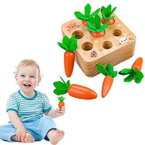 Sunshine smile holzspielzeug Montessori,Karotte Spielzeug,sortierspiel...