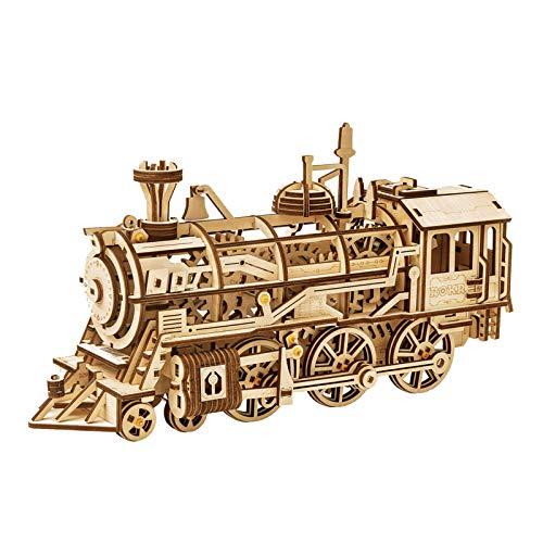 Robotime Lokomotive mechanischer Baukasten - 3D...