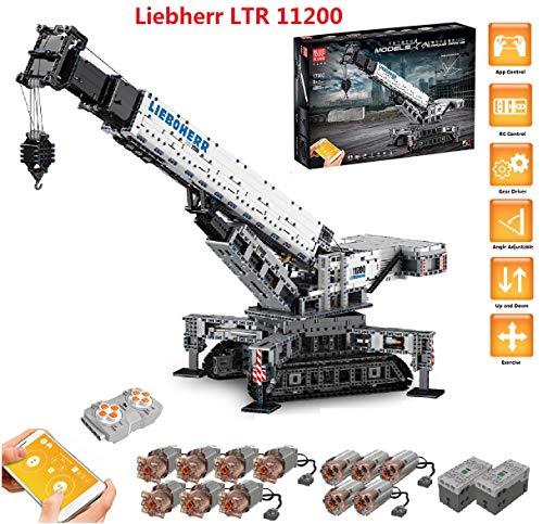 PEXL Technik Liebherr Kran Bausteine Bausatz, Technic Ferngesteuertes Raupenkran Modell Bauset mit 12 Motors,...