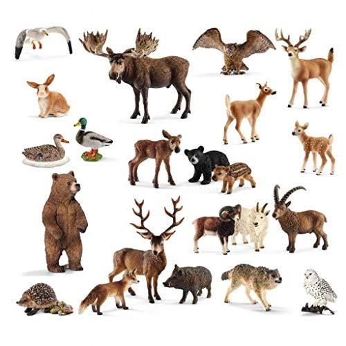 SCHLEICH Heimische Wildtiere-Set, 22 Tiere, inkl. Aufbewahrungsbox ׀...
