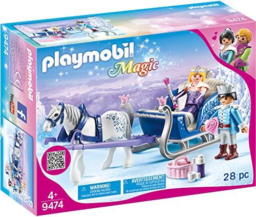 PLAYMOBIL Magic 9474 Schlitten mit Königspaar, Ab 4 Jahren [Exklusiv...