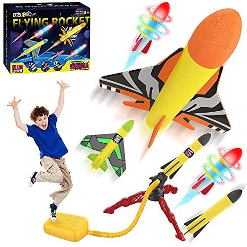 【2021 Upgrade】6x Rakete Outdoor Spielzeug ab 3 4 5 6 7 Jahre Junge...