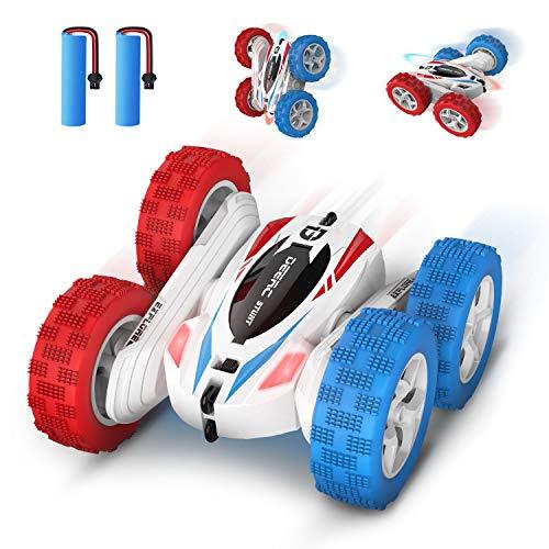 DEERC DE35 RC Ferngesteuertes Auto mit 2 Akkus für Kinder,Wiederaufladbar Stunt Auto Rennauto mit 2,4 Ghz...