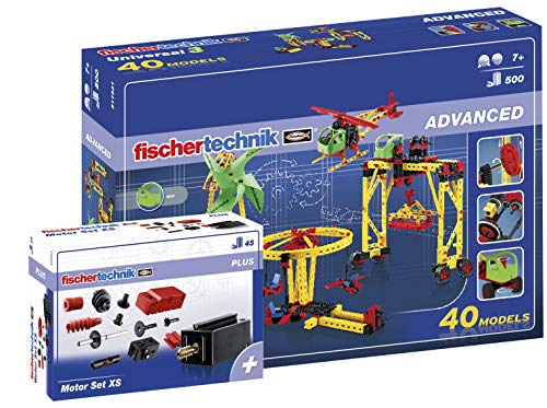 fischertechnik - 516187 ADVANCED Universal 3 + Motor Set XS,...