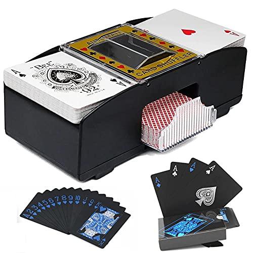 YYXT Kartemmischgerät , 2 Decks Automatische Kartenmischmaschine...