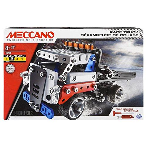 Meccano 6042088 - MECCANO Themenset Large - Rennlaster - Konstruktionsspielzeug - Modellbau - Bauen mit...