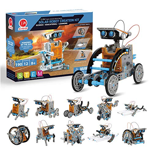 Ciro 658126940740 Solarbetriebenes Roboter-Spielzeug, Mehrfarbig