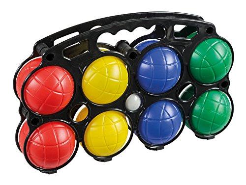 Idena 7400014 - Boccia Spiel mit 8 farbigen Kugeln und Zielkugel, aus...