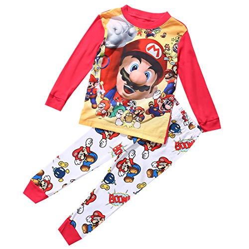 Cartoon Super Mario Baby Kinder Mädchen Jungen Freizeitkleidung Set...