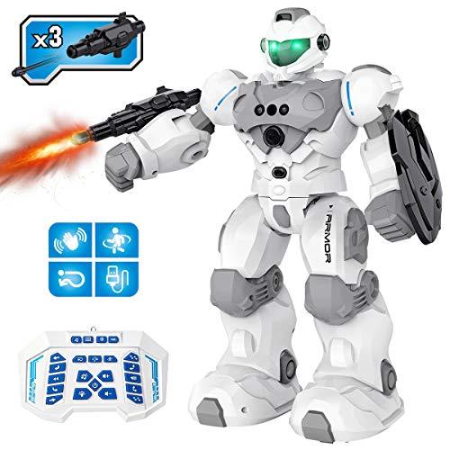 Pickwoo Kinderspielzeug Ferngesteuerte Roboter, 2,4 Ghz RC Fernbedienung Roboter für Kinder Intelligent...