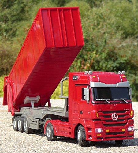 RC LKW Mercedes-Benz ACTROS mit KIPP-Anhänger Länge 44cm 'Ferngesteuert 40MHz'