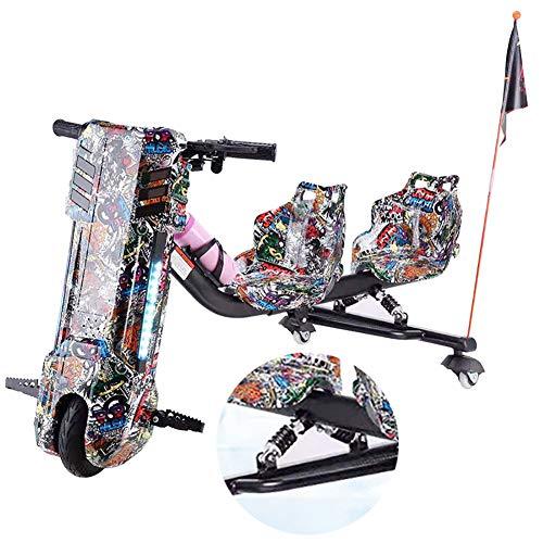 Driftscooter Elektro Motor Dreirad Elektrische Drift-Trikes Mit Doppeltem Federstoßdämpfer ABS-Material,...