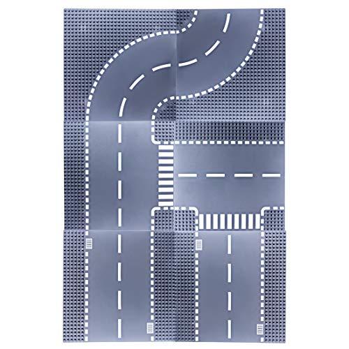 IT IF IT City gerade und gebogene Straßen-Bodenplatte T-Platte, 6...