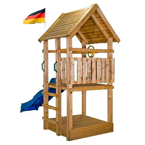 Kletterturm Holzturm Spielturm Kinder Sandkasten - (3369)