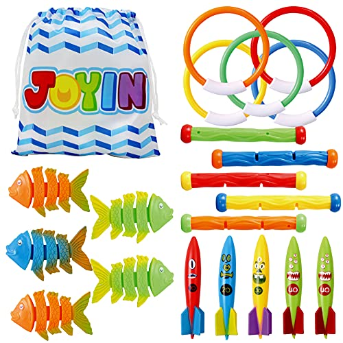 JOYIN 20 Stück Tauchspielzeug mit Bonus-Aufbewahrungstasche enthält...