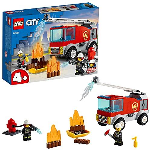 LEGO 60280 City Feuerwehrauto Spielzeug mit Feuerwehrmann als...