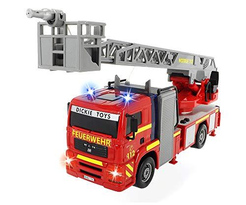 Dickie 203715001 Toys City Fire Engine, Feuerwehrauto mit manueller...