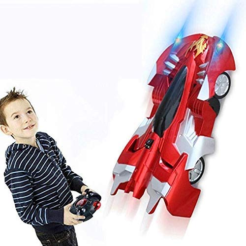 XHCP Wandkletter-Autowand, 360° drehbar, umdrehende Stunt-Autos, Fernbedienung, Licht, wiederaufladbar, mit...