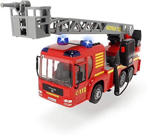 Dickie 203716003 Toys Fire Hero, Feuerwehrauto mit manueller...