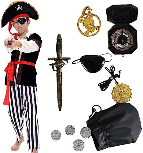 Tacobear Piratenkostüm Kinder Jungen mit Piraten Zubehöre Piraten...
