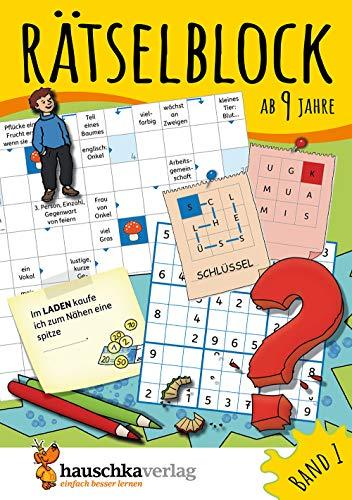 Rätselblock ab 9 Jahre, Band 1, A5-Block: Kunterbunter Rätselspaß:...