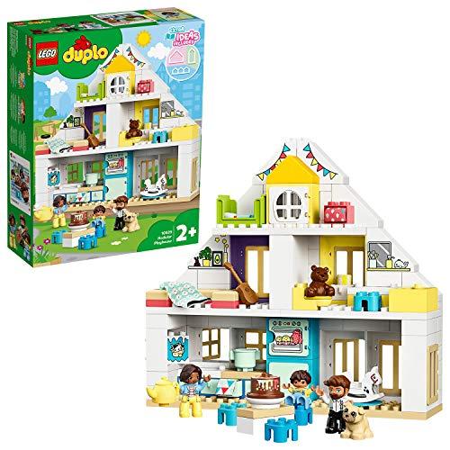 LEGO 10929 DUPLO Unser Wohnhaus 3-in-1-Set, Puppenhaus für Mädchen und Jungen ab 2 Jahren mit Figuren und...
