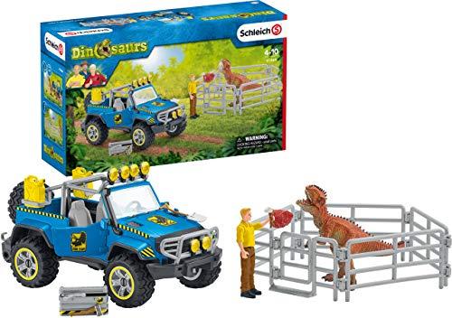 Schleich 41464 Dinosaurs Spielset - Geländewagen mit...