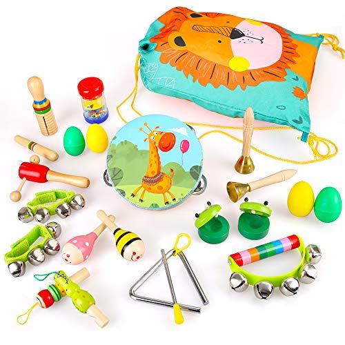 BeebeeRun 23 Stück Musikspielzeug für Kinder Musikinstrumente aus...